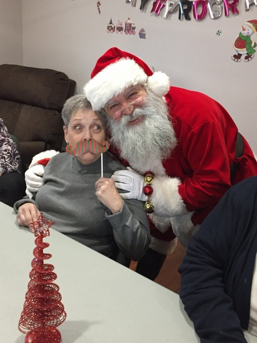 Santa visits the day Hospice