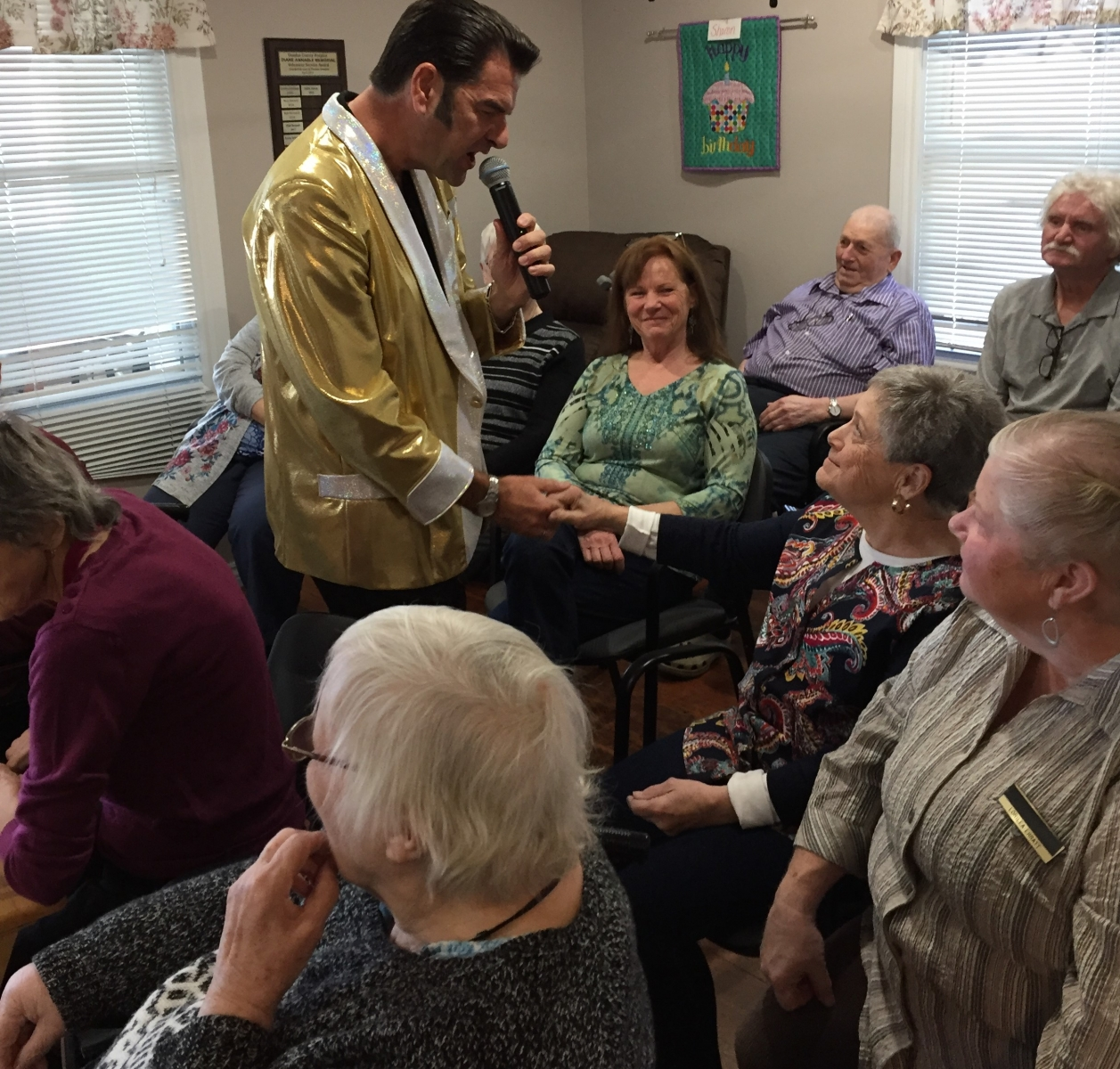 Elvis visits the day program